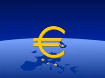Mapa do euroland ilustração stock