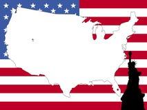Mapa do fundo dos EUA Imagens de Stock Royalty Free