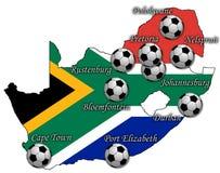 Mapa do futebol da RSA Fotografia de Stock
