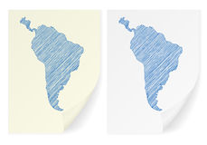 Mapa do garrancho de Ámérica do Sul Fotografia de Stock