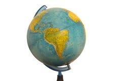Mapa do globo da terra de Ámérica do Sul Foto de Stock Royalty Free