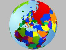 Mapa do globo de Europa Foto de Stock Royalty Free