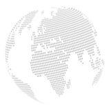 Mapa do globo do mundo: quadrado - enigma Fotografia de Stock Royalty Free