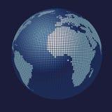 mapa do globo do vetor 3D Fotos de Stock Royalty Free