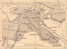 Mapa do império Assyrian ilustração stock