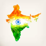 Mapa do indiano da aquarela Fotografia de Stock Royalty Free
