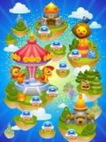Mapa do jogo Foto de Stock
