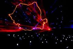 Mapa do laser de Romania Imagens de Stock Royalty Free