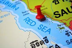 Mapa do Mar Vermelho Imagens de Stock Royalty Free