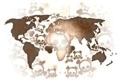 Mapa do marrom da guerra de mundo Ilustração Stock