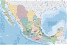 mapa do Meksyku Zdjęcie Royalty Free