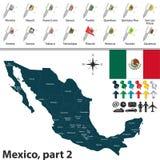 mapa do Meksyku ilustracja wektor