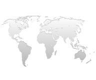 Mapa do metal Foto de Stock Royalty Free