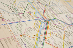Mapa do metro Fotografia de Stock Royalty Free