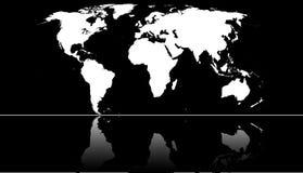Mapa do mundo Fotografia de Stock
