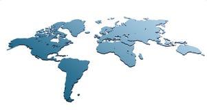 Mapa do mundo Fotografia de Stock Royalty Free