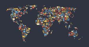 Mapa do mundo Foto de Stock