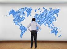 Mapa do mundo Imagens de Stock