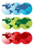 Mapa do mundo ilustração stock
