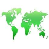 Mapa do mundo Fotos de Stock Royalty Free