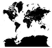 Mapa do mundo Imagem de Stock