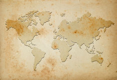 Mapa do mundo Fotografia de Stock Royalty Free