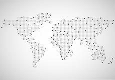 Mapa do mundo abstrato dos pontos Imagem de Stock Royalty Free