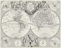 Mapa do mundo antigo, ilustração royalty free