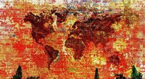 Mapa do mundo colorido Imagem de Stock