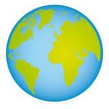 mapa do mundo colorido da terra com os continentes em 3d Foto de Stock Royalty Free
