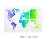 Mapa do mundo da cor do arco-íris Fotografia de Stock Royalty Free