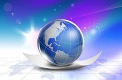 Mapa do mundo da tecnologia - Ásia Fotos de Stock Royalty Free