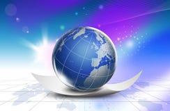 Mapa do mundo da tecnologia - Europa Fotografia de Stock