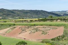Mapa do mundo de Cirauqui, Navarra spain Foto de Stock