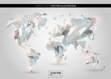 Mapa do mundo de cristal claro Foto de Stock