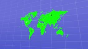 Mapa do mundo, destino do curso ilustração do vetor