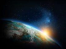 Mapa do mundo do espaço Fotografia de Stock Royalty Free