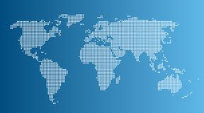 Mapa do mundo do gráfico de computador Imagens de Stock
