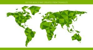 Mapa do mundo do origâmi Imagens de Stock Royalty Free