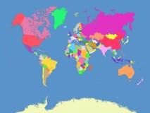Mapa do mundo e dos países Fotografia de Stock