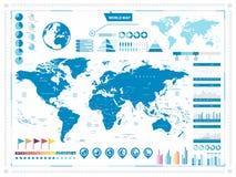 Mapa do mundo e elementos infograpchic Imagem de Stock Royalty Free