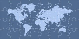Mapa do mundo do enigma Imagem de Stock Royalty Free