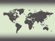 Mapa do mundo. Ilustração do vetor Imagens de Stock
