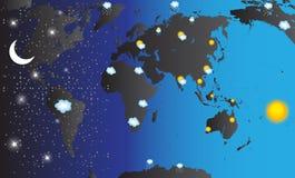 Mapa do mundo Ilustração do vetor ilustração do vetor