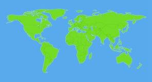Mapa do mundo liso com países ilustração royalty free