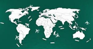 Mapa do mundo logístico Imagens de Stock Royalty Free