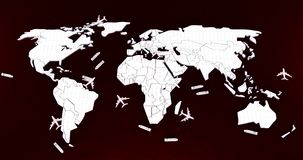 Mapa do mundo logístico Fotos de Stock