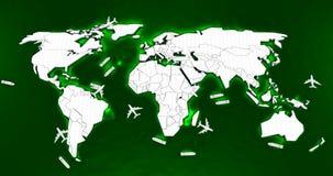 Mapa do mundo logístico Imagem de Stock