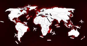 Mapa do mundo logístico Imagens de Stock