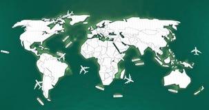 Mapa do mundo logístico Foto de Stock Royalty Free